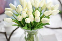 Coobl Artificial silk flower High grade decorative tulip flower wedding bouquet bride holding ga ...