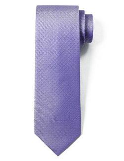 """Origin Ties 100% Silk Textured Solid Color Men's Skinny Tie 3"""" Necktie Purple"""