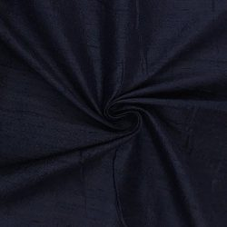 100% Pure Silk Dupioni Fabric 54″ Wide BTY Drape Blouse Dress Craft (Navy)