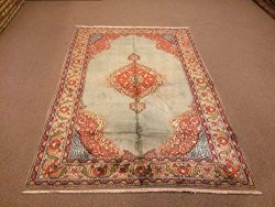 4.9×7.2 Feet Soft Orange And Turquoise Rug Medallion Design Silk On Cotton Rug Handmade Rug ...