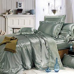 THXSILK Silk Duvet Cover, Silk Comforter Covers, Luxury Bedding – Ultra Soft,Machine Wash ...