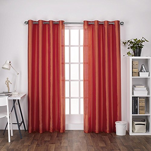 Exclusive Home Curtains Chatra Faux Silk Grommet Top
