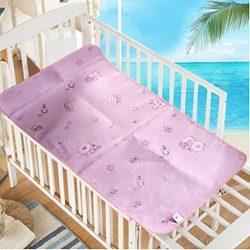 Baby Summer Sleeping Mat Breathable Safe Cool Bamboo Silk Flat Mattress Pads Toddler Infant Fold ...