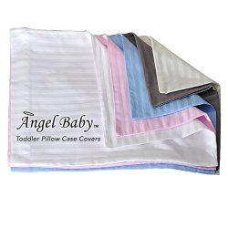 Angel Baby Toddler Pillow Case Cover – WHITE, 100% NATURAL Cotton Percale, 400 Thread Coun ...