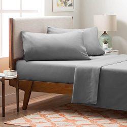 LINENSPA Brushed Microfiber Ultra Soft Bed Sheet Set – Wrinkle Resistant – King Size ...