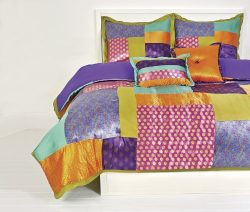 Retreat Satin Comforter Set with Sham, Full/Queen, Multicolor