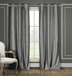 Heavy Blackout Curtain Pair Panel Window Draperies – Faux Silk – (Assorted Colors) 3 ...