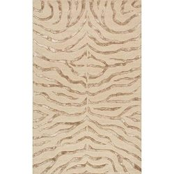 nuLOOM Madagascar Collection 100-Percent Wool with Faux Silk Highlights Area Rug, 3-Feet by 5-Fe ...