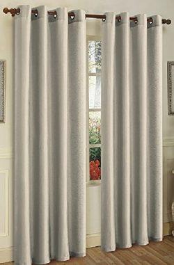 """Window Panels """"2 Panels"""" Faux Silk Curtains , 8 Grommets Per Panel, Le Benton, Solid ..."""