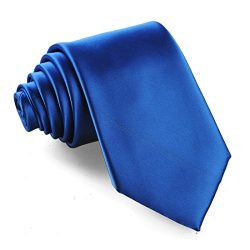 Fortunatever Classical Men's Solid Necktie With Gift Box (Royal Blue)