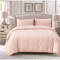 HaloVa Bed Sheets Set, Natural Silk Cotton Bedding Set, Jacquard fabric Pattern Soft Extremely D ...