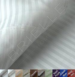 Brielle 630 Thread Count Egyptian Cotton Sateen Premium 600 Plus Duvet Cover, Full/Queen, White  ...
