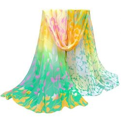 Women Autumn Winter Scarf; Lady Chiffon Silk Scarves Vovotrade (Yellow)