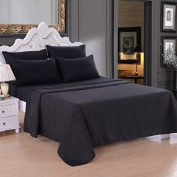 JML Bedding Sets, 4 Pieces Sheets – 18″ Deep Pocket, Microfiber 2200 Thread Count, H ...