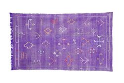 Moroccan Cactus Silk Rug, Hand Woven by Berbers from Morocco's High Atlas Mountains, 7R ...