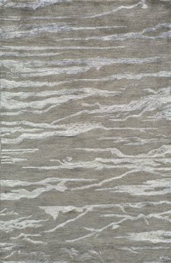 Momeni Rugs ZEN00ZEN-2GRY80B0 Zen Collection, Wool & Banana Silk Hand Tufted Contemporary Ar ...