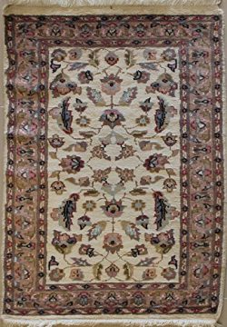 1'10 x 3'2 Pak Persian Area Rug with Silk & Wool Pile – | a 2×3 Small ...