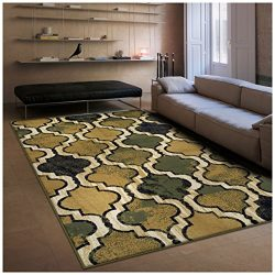 Superior Modern Viking Collection Area Rug, 10mm Pile Height with Jute Backing, Chic Textured Ge ...