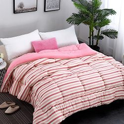 Luxury Warm Checked Thickening Lace Winter Soft Cotton Silk Filled Comforter Duvet Quilt Twin Fu ...