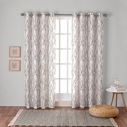 Exclusive Home Curtains Augustus Grommet Top Window Curtain Panel Pair