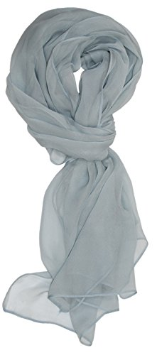 Ted and Jack – Solid Silk Lightweight Accent Scarf (Pale Grey)