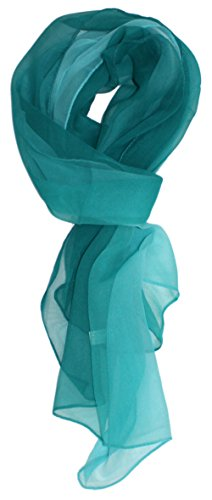 Ted and Jack – Silk Ombre Lightweight Accent Scarf in Teals