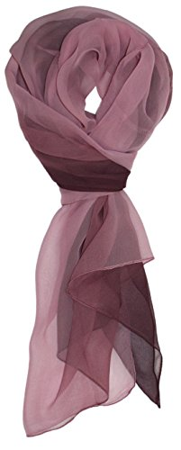 Ted and Jack – Silk Ombre Lightweight Accent Scarf (Plum)