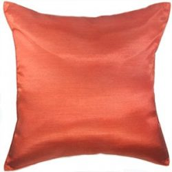 Artiwa 16×16″ Solid Burnt Orange Silk Couch Bed Decorative Throw Accent Pillowcase