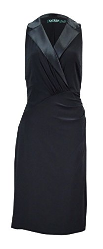 Lauren Ralph Lauren Womens Jersey Stretch Casual Dress Black 16