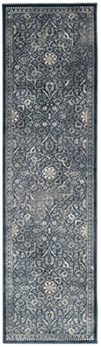 Safavieh Vintage Premium Collection VTG175-7330 Transitional Oriental Medallion Blue and Light G ...