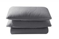 Brielle Stream Quilt and Sham Set, King, Light Grey
