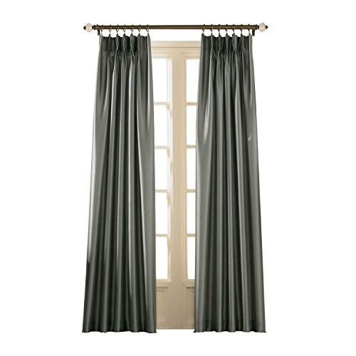 Curtainworks Marquee Faux Silk Pinch Pleat Curtain Panel