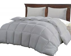 Best Twin Size Bed Gray Luxury Quilted Comforter for Women, Hypoallergenic Microfiber One-Piece  ...