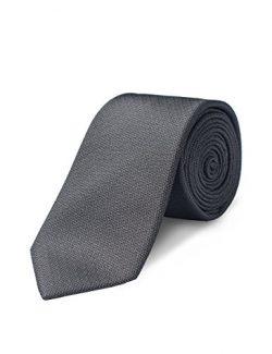 Origin Ties 100% Silk Textured Handmade Solid Herringbone Men's Skinny Tie 2.5″ Neck ...