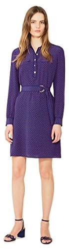 Tory Burch Women's Silk Crepe De Chine Rylie Shirt Dress In Navy Sea Ocho Rios
