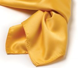 Solid Series Square Silk Scarf – Gold