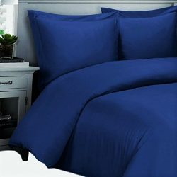 Full / Queen Royal-Blue Silky Soft Rayon from Bamboo Duvet Covers 100% Viscose from Bamboo Duvet ...