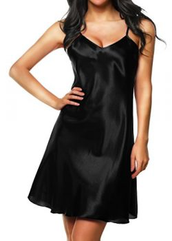Cabreao Sexy Sleepwear For Women Satin Nightgowns Lingerie Silky Nighties Night Wear Sleep Chemi ...