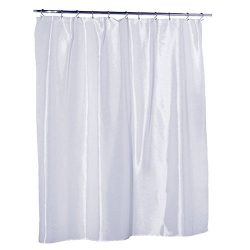 Waterproof Nylon – Soft as Silk – Mildew Resistant Fabric Shower Curtain Liner, 70 I ...
