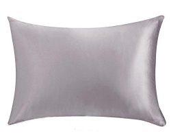 FabricMCC Silk Pillowcase, Hypoallergenic Queen Size Pillow Case with Zipper, Satin Pillowcases  ...