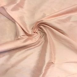 100% Pure Silk Dupioni Fabric 54″ Wide BTY Drape Blouse Dress Craft (Pale Pink)