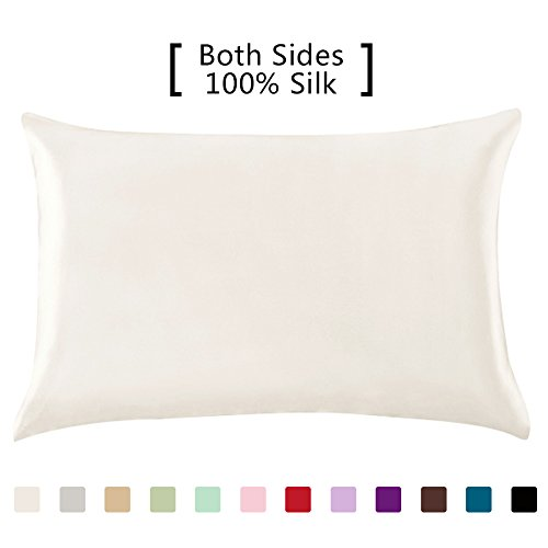 YANIBEST 19 Momme 100% Pure Natural Mulberry Silk Pillowcase for Hair & Facial Beauty King S ...