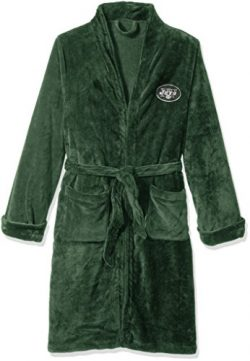 NFL New York Jets Men's Silk Touch Lounge Robe, Large/X-Large
