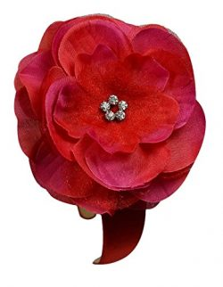 Emma Silk Flower Girls Arch Headband (Red)