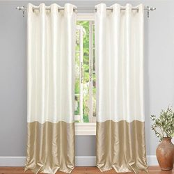 DriftAway Madelynn-Solid Color Blocks -Thermal Blackout/Room Darkening Grommet Curtains, Faux Si ...
