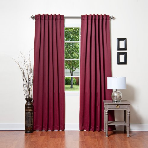 Best Home Fashion Thermal Insulated Blackout Curtains – Back Tab/ Rod Pocket – Burgu ...