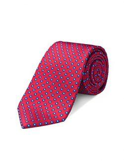 Origin Ties Mens Fashion Red 100% Silk Handmade 3″ Tie Dot Skinny Tie