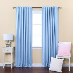 Best Home Fashion Thermal Insulated Blackout Curtains – Back Tab/ Rod Pocket – Sky B ...