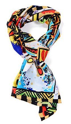 Salutto Women 100% Silk Scarf Monet Van Gogh Famous Painter Painted Scarves 48
