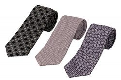 748-805-802- 3 Pack Men's Micro Silk Neck Ties – by HBNY